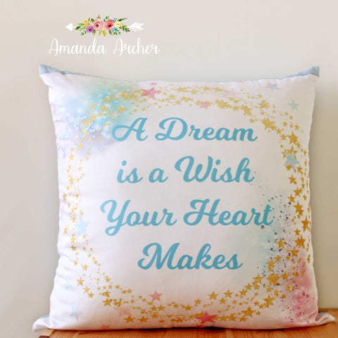 Dream, Pillow Cover 18x18""