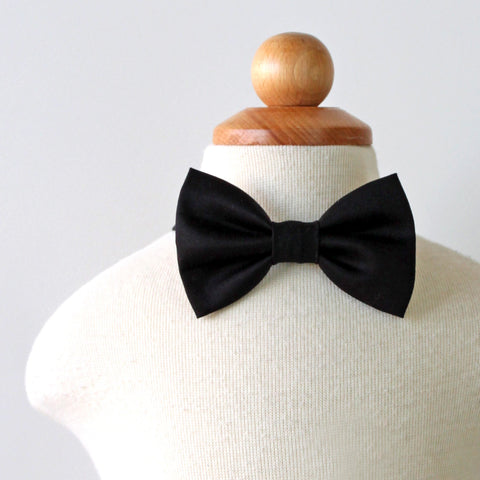 Black Cotton Bow Tie, Boy, Toddler, Baby