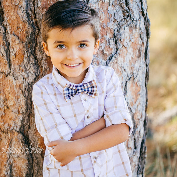 Plaid Bow Tie for Boy, Toddler and Baby, Ring Bearer