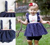 Custom Name Dress and Bloomer set