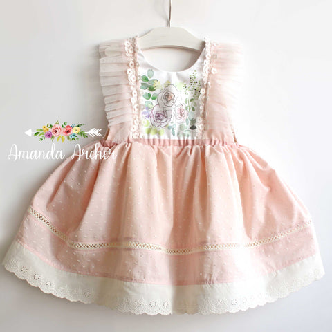 Blush Swiss Dot Sweet Rose Dress