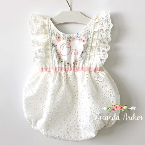Fairy First Birthday Bubble Romper