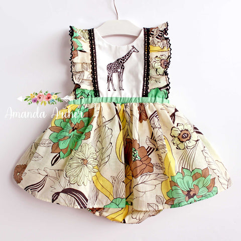 Giraffe Skirted Romper