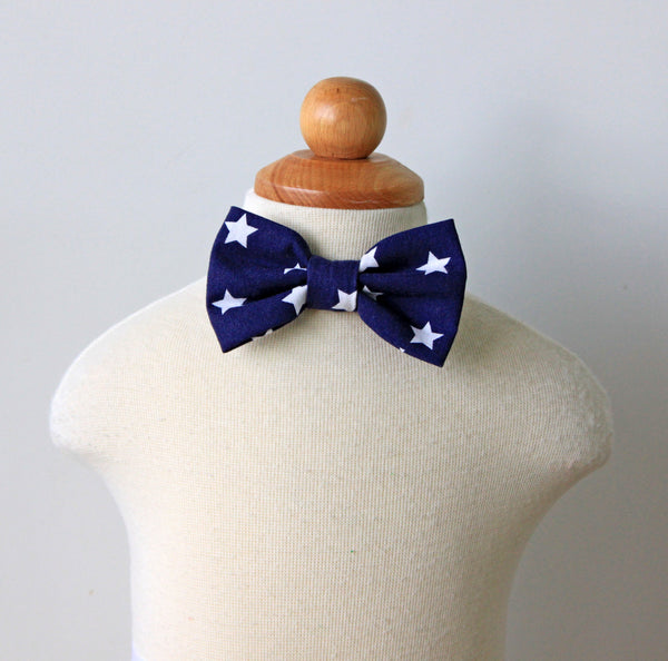 Navy Stars Bow Tie, baby, toddler, kid sizes