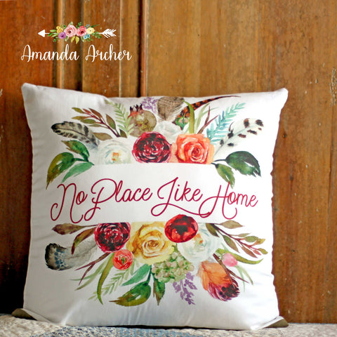 No Place Like Home, Pillow Cover 18x18""