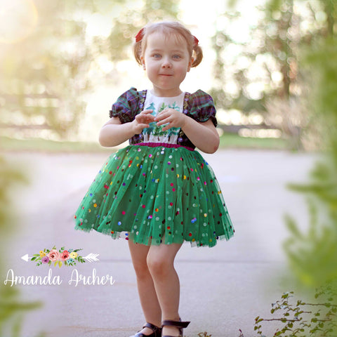 Confetti Green Holiday Dress