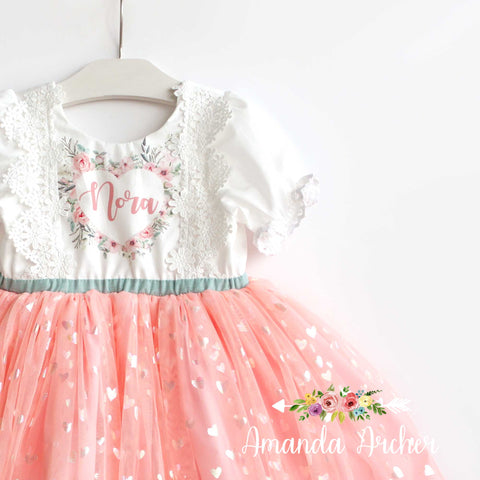 Blushing Heart Name Dress