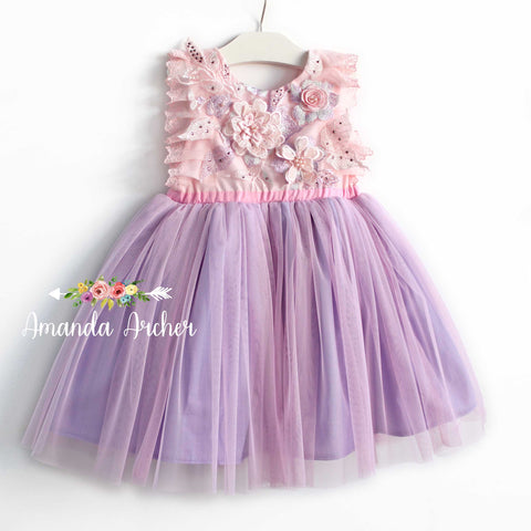 Princess Sparkle Dress, purple/pink