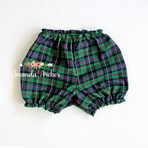 Bloomer Add-On, evergreen plaid