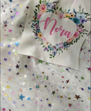 Custom Name Skirted Romper, 'Nora' Star Tulle