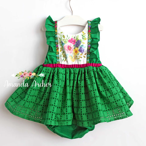 Te Fiti Green Dress or Romper