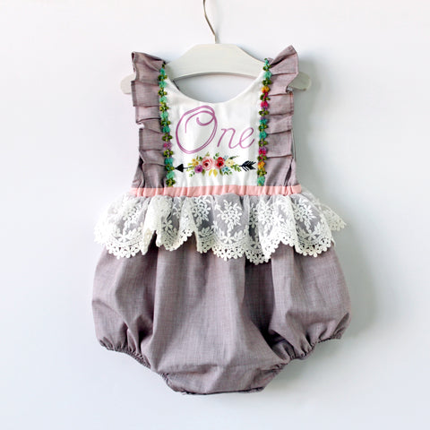 Birthday Keepsake Romper, READY TO SHIP