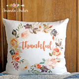 Thankful Pillow Cover 18x18""
