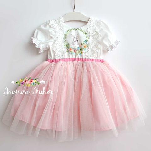 Spring Bunny Pink Tulle Dress