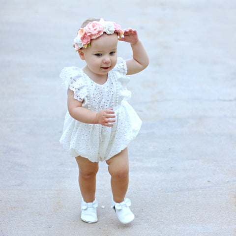With Grace in Her Heart Romper