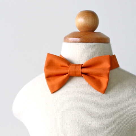 Orange Cotton Bow Tie
