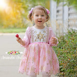 Pink and Gold Snowflake Dress
