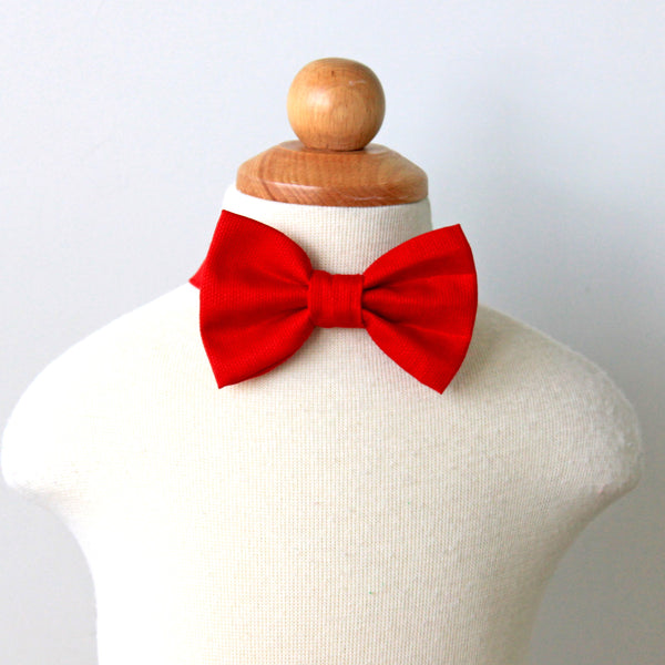 Red Cotton Bow Tie, Boy, Toddler, Baby