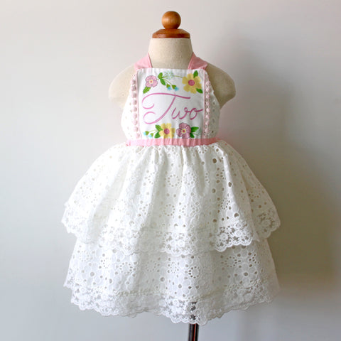 2nd Birthday Keepsake Dress, Pretty in Pink