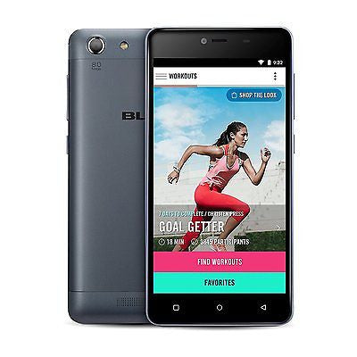 BLU Energy X2 E050U Unlocked GSM Smartphone 4G 4000mAh Black Refurbished