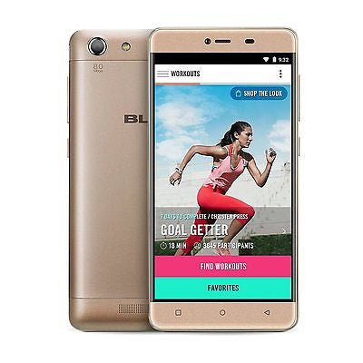 BLU Energy X2 E050U Unlocked GSM Smartphone 4G 4000mAh Gold - Good Condition