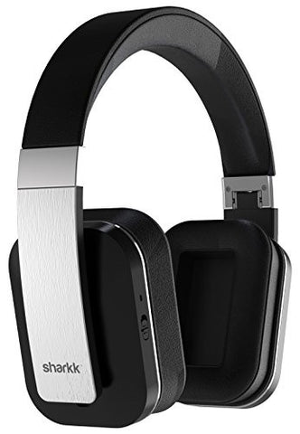Sharkk Claro Wireless Bluetooth Headphones, Active Noise Cancelling Bluetooth Headset with Advanced Apt-X Technology, 14 Hour Play Time Battery Life, Built-In Mic and Protein Soft Ear Cushions