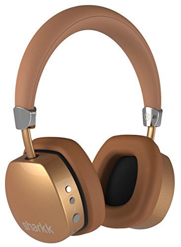 Sharkk Wireless Bluetooth Headphones Over-Ear Headset 18 Hour Play Time Advanced Bluetooth 4.0 Technology Extended Battery Life with Built-In Microphone for Phone Calls Includes Carrying Case