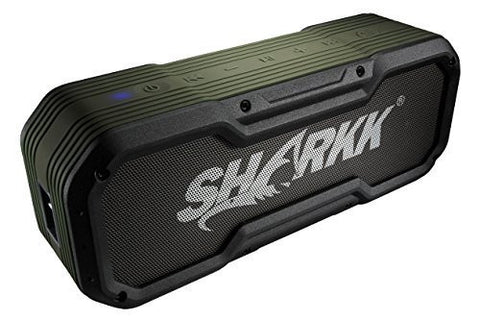 SHARKK COMMANDO Bluetooth Speaker IP65 Rugged Waterproof Wireless Speaker with 6600mAh Power Bank and 2 EQ Sound Settings 10W Portable Outdoor and Shower Speaker with 24 Hour+ Playtime