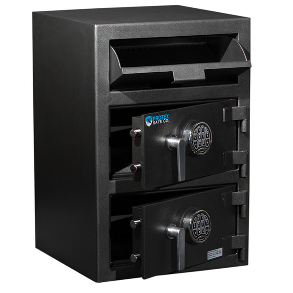 Protex FDD-3020 Large Dual Door Front Loading Depository Safe