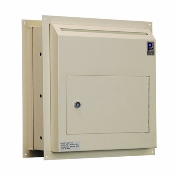 Protex WDS-311-DD Through-The-Wall Locking Drop Box with Dual Doors image