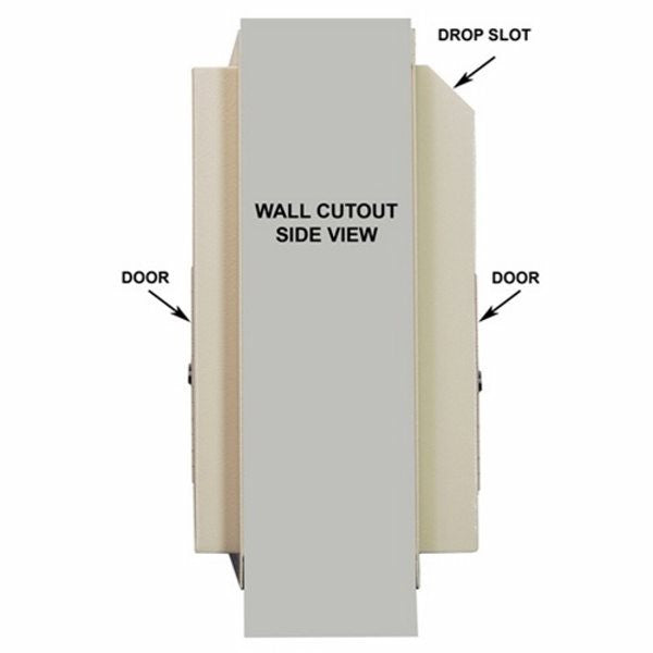 Protex WDS-311-DD Through-The-Wall Locking Drop Box with Dual Doors