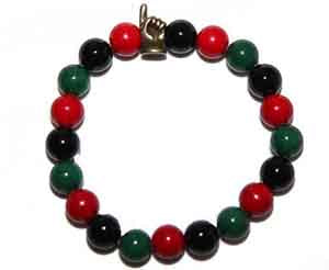 PIO Red, Black and Green Bracelet