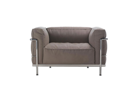 LC3 Outdoor Armchair + 2-Seater Sofa