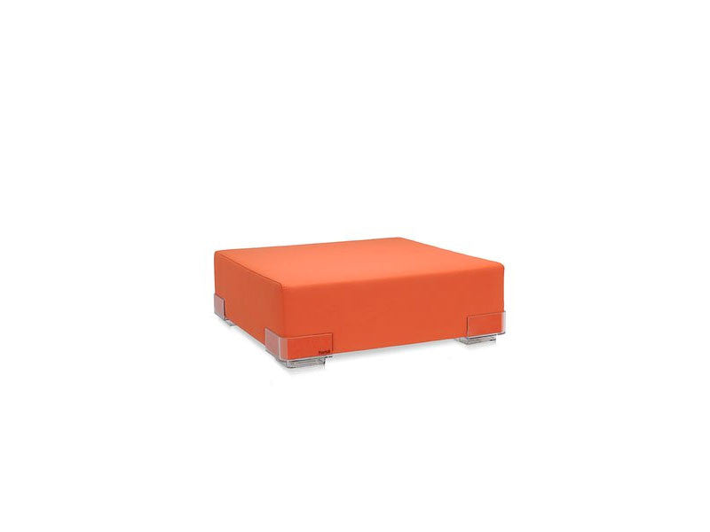 Kartell-Plastics-Ottoman-Orange