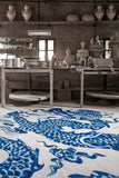 Blue China Wool Rug