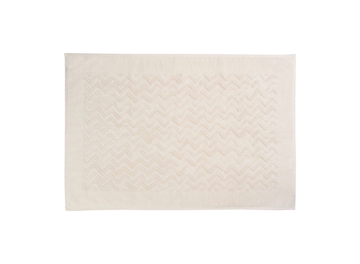 Ivory Chevron Bath Mat
