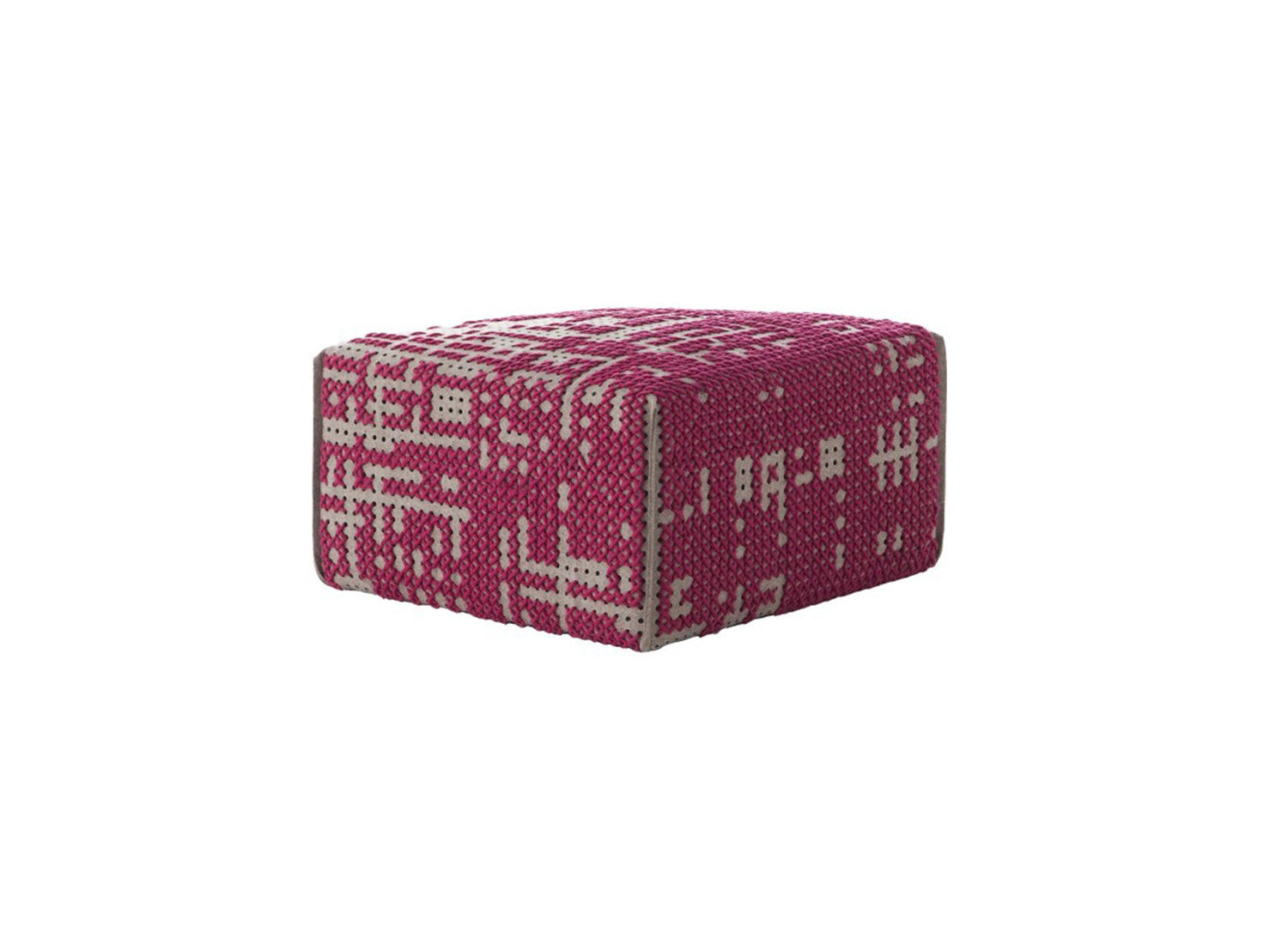 Canevas Abstract Square Ottoman