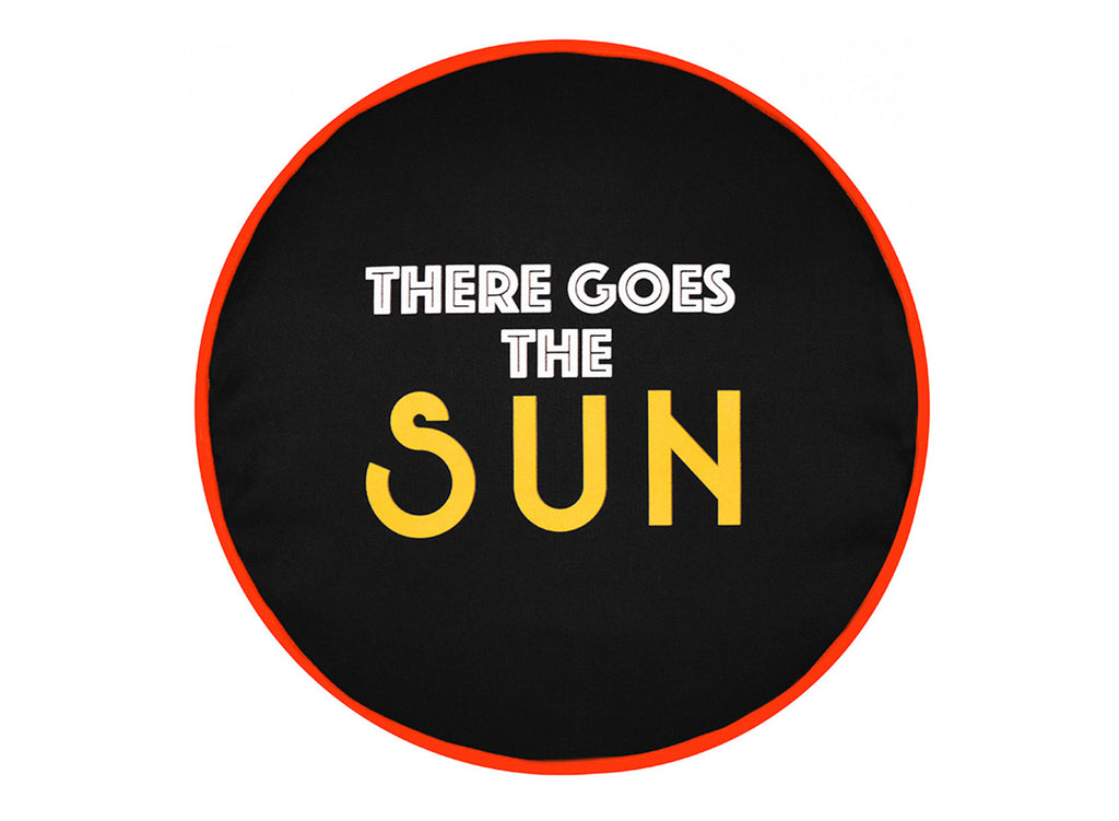 There Goes the Sun Art Pillow