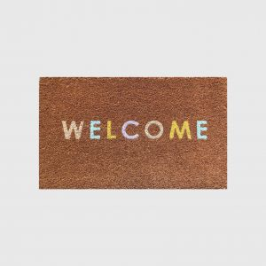 Potted Doormat - Welcome colours