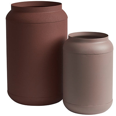 Canvas and Sasson Earth Vases Set of 2