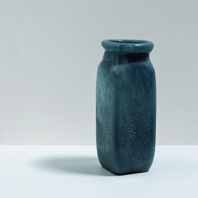 Byron Tall Glass Vase - Denim