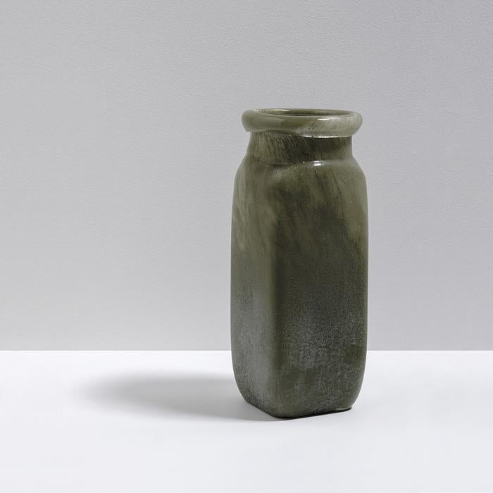 Byron Tall Glass Vase - Olive