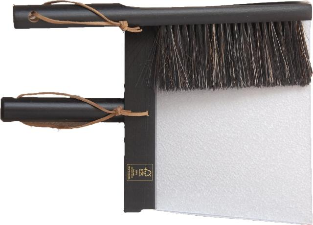 Heaven - Three piece Broom and Dustpan Set Black
