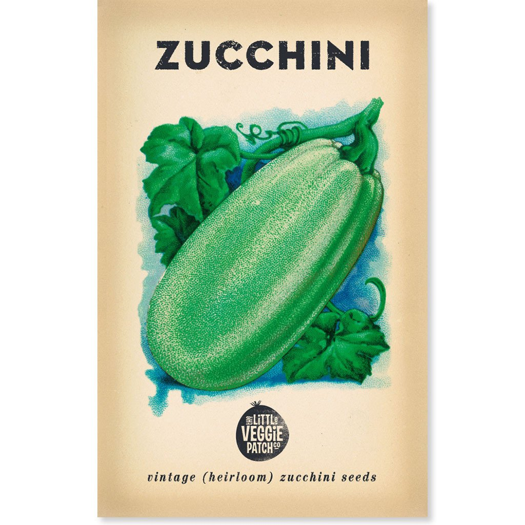 Little Veggie Patch - Zucchini 'Black Beauty' Heirloom Seeds