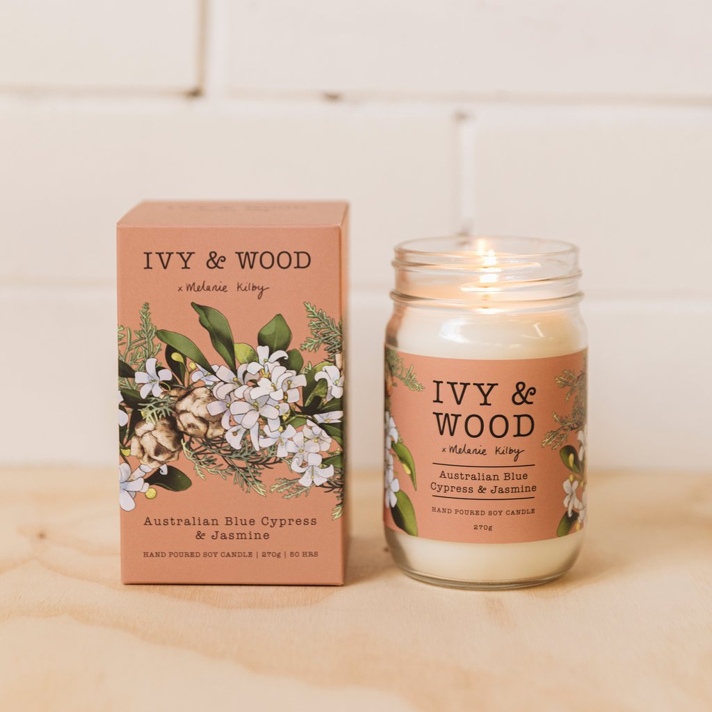 Ivy & Wood Candle - Australian Blue Cypress & Jasmine