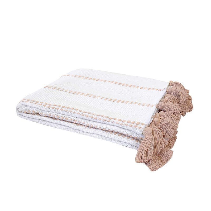 Bambury Sedona Throw Rug - Fawn