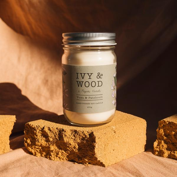 Ivy and Wood Candle - Yuzu and Patchouli