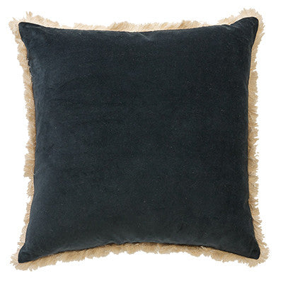 Canvas + Sasson - Mansour Fringe Cushion in Midnight 50x50