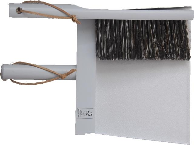 Heaven - Three piece Broom and Dustpan Set Grey