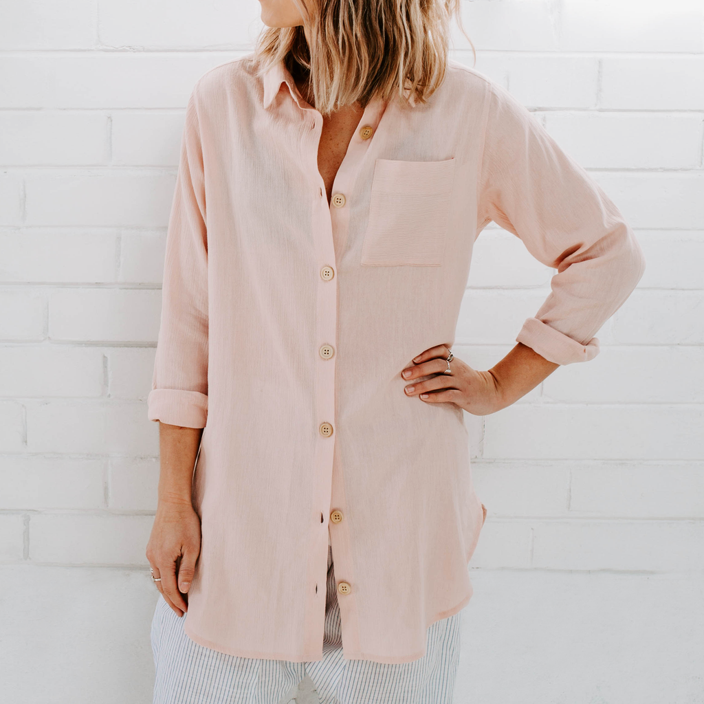 MIANN & CO Phoebe Shirt Dusty Pink